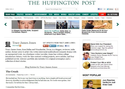 The Crush in The Huffington Post